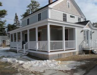 New Home Construction wrap around porch